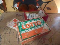 vintage old collectible board game LOTTO