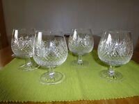 4 Edinburgh Crystal Brandy Glasses