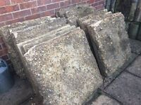 Paving Slabs with Concrete