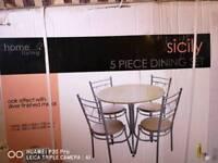 """Sicily"" 5 piece dining set"