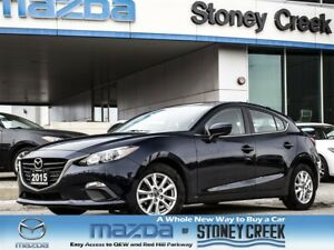 2015 Mazda MAZDA3 GS Auto LOW KM NEW RR Brakes Alloy Push Start!