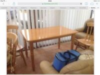 Good Quality Kitchen Table and 4 Chairs