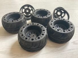 Rubber electric skateboard wheels by ONSRA, fits black carve and evolve and most othertypes