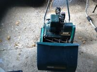 Qualcast suffolk punch 35s petrol lawn mower with grass box selfpropelled with rear roller vgc gwo