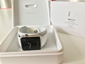Apple Watch 316L Stainless Steel SS 42mm Series 1 Ceramic back, Sapphire Glass