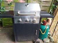 Gas bbq with new gas bottle
