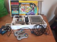 Super Nintendo Game Console (inc. 2 controllers, and 2 games - Super Mario All*Stars & STAR WARS)