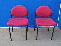 Comfy red chairs Great quality x set of 2 (Delivery)