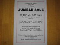 Jumble Sale at Frampton on Severn village hall 21st April 2018