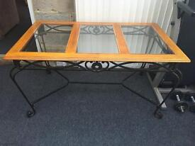 Wrought iron table & 4 chairs