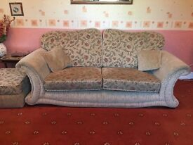 Three Seater and Two Seater Sofas with Storage Stool
