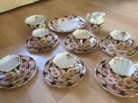 21 Piece Vintage Melba fine Bone China tea set