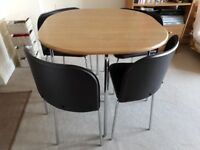 Dining table and chairs Hygena Amparo
