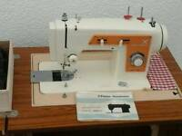 FRISTER ROSSMANN electric sewing machine in cabinet