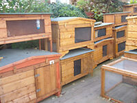 "rabbit hutch 48""wide robust germ free worth viewing"