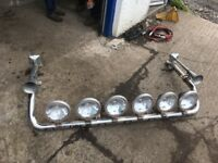 Chrome kelsa hi bar, spot lights and air horns