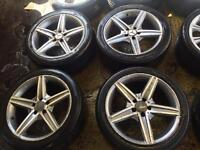 "18"" MERCADES E CLASS S CLASS C CLASS C63 ALLOY WHEELS SET OF 4"