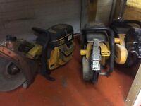 3 x partner petrol saws