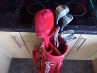 Great Value Golf Clubs, Half Set in a Dunlop Bag.