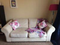 Cream Next 3 Seater Sofa