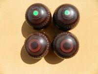 Henselite Championship Brown Bowls (set of 4)