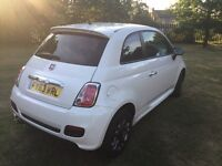 Fiat 500 1.2 Sport, White, Leather, 1 owner, FSH, ONLY 9000 miles