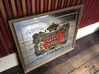 Large Vintage Pub Mirror