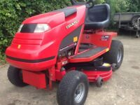 Countax ride on mower with mulcher