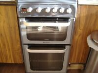 hotpoint ultima double oven/grill gas cooker as new