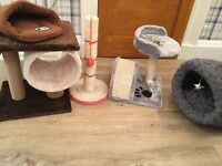 Scratching post and cat accessories (5 piece)
