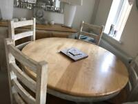 Mango wood Dining table and four chairs