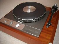 garrard 401 turntable with plinth / dust cover, rega rb300 and goldring 1042