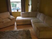 Corner Sofa with Armchair - Cream Corner Sofa