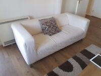 2 modern styled 3 seater sofas.
