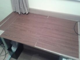 Amtico flooring strips left over, Mahogany colour, makes area of 35 inches x 27 inches