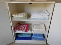 LINEN / STORAGE CUPBOARD PAINTED COUNTRY WHITE