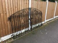solid set of wrought iron driveway gates £70