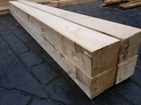 Chunky heat treated timber / railway sleepers. 9ft long