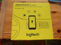 Logitech ZeroTouch Air Vent, Hands-Free Car Mount and Voice Assistant App