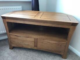 Sold oak tv unit