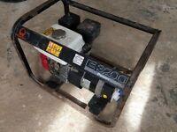 Used Pramac E3200 generator with Honda gx160 engine 240v, 110v