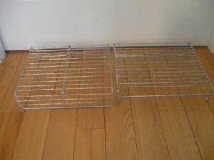 TWO VINTAGE HEAVY-DUTY SLOTTED COOLING RACKS