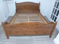 IKEA KING SIZE LEKSVIK WOODEN BED FRAME ONLY