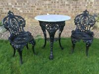 Cast. Iron table & Chairs