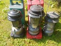 Camping or fishing tilly lamps