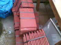 Redland rustic red plain tiles