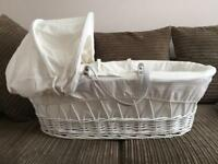 New Wicker Moses basket