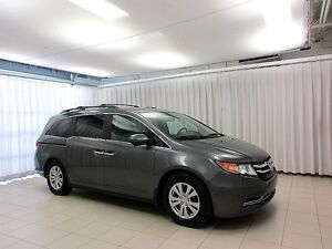 2014 Honda Odyssey EX-L 8 PASS MINIVAN w/ LEATHER, NAV & MOONROO