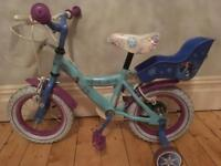 "Girls ""Frozen"" bike 2-5 years"