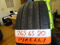 matching set of 265 45 20 PIRELLIS 6MM TREAD £50 EACH SUPP & FITTD OR £180 SET OF 4 (LOADS MORE)7dys